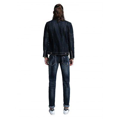 Men Simple Straight Regular Fit JeansMens Pants<br>Men Simple Straight Regular Fit Jeans<br><br>Material: Cotton, Spandex<br>Package Contents: 1 x Men Pants<br>Package size: 30.00 x 35.00 x 2.00 cm / 11.81 x 13.78 x 0.79 inches<br>Package weight: 0.5500 kg<br>Product weight: 0.5000 kg