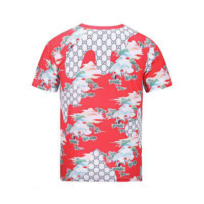 Fashion Round Collar Short Sleeve 3D Printed T-shirtMens Short Sleeve Tees<br>Fashion Round Collar Short Sleeve 3D Printed T-shirt<br><br>Fabric Type: Polyester<br>Material: Polyester<br>Neckline: Round Neck<br>Package Content: 1 x Men T-shirt<br>Package size: 30.00 x 35.00 x 2.00 cm / 11.81 x 13.78 x 0.79 inches<br>Package weight: 0.2500 kg<br>Product weight: 0.2100 kg<br>Season: Summer<br>Sleeve Length: Short Sleeves<br>Style: Casual