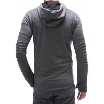 Casual Long Sleeve Solid Color Hooded SweatshirtMens Hoodies &amp; Sweatshirts<br>Casual Long Sleeve Solid Color Hooded Sweatshirt<br><br>Material: Cotton, Polyester<br>Package Contents: 1 x Sweatshirt<br>Package size: 50.00 x 45.00 x 2.50 cm / 19.69 x 17.72 x 0.98 inches<br>Package weight: 0.3700 kg<br>Product weight: 0.3300 kg