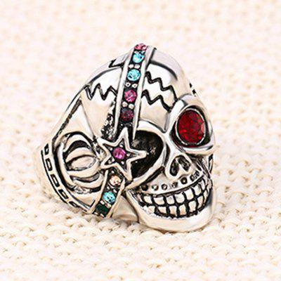 Skull Diamond Couple Index Finger RingRings<br>Skull Diamond Couple Index Finger Ring<br><br>Fabric: Alloy,Resin,Silver<br>Occasions: Casual, Performance<br>Package Contents: 1 x Ring<br>Package size (L x W x H): 5.00 x 5.00 x 3.00 cm / 1.97 x 1.97 x 1.18 inches<br>Package weight: 0.0480 kg<br>Product weight: 0.0080 kg<br>Style: Fashion, Classical, Vintage<br>Type: Rings