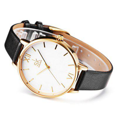 SHENGKE K0056L Leather Band Women WatchWomens Watches<br>SHENGKE K0056L Leather Band Women Watch<br><br>Band material: Leather<br>Band size: 22 x 1.2cm<br>Brand: SHENGKE<br>Case material: Alloy<br>Clasp type: Pin buckle<br>Dial size: 3.8 x 3.8 x 0.7cm<br>Display type: Analog<br>Movement type: Quartz watch<br>Package Contents: 1 x Watch<br>Package size (L x W x H): 28.00 x 8.00 x 3.50 cm / 11.02 x 3.15 x 1.38 inches<br>Package weight: 0.0800 kg<br>Product size (L x W x H): 22.00 x 3.80 x 0.70 cm / 8.66 x 1.5 x 0.28 inches<br>Product weight: 0.0300 kg<br>Shape of the dial: Round<br>Watch mirror: Mineral glass<br>Watch style: Fashion<br>Watches categories: Women<br>Water resistance : No