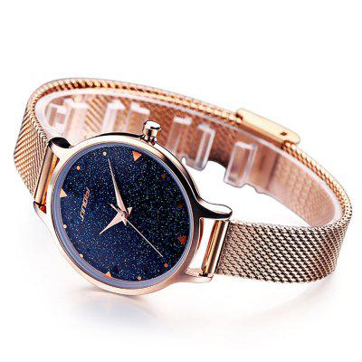 SINOBI 9718 Steel Net Band Women Quartz WatchWomens Watches<br>SINOBI 9718 Steel Net Band Women Quartz Watch<br><br>Band material: Steel<br>Band size: 22 x 1.2cm<br>Brand: Sinobi<br>Case material: Alloy<br>Clasp type: Pin buckle<br>Dial size: 2.6 x 2.6 x 1cm<br>Display type: Analog<br>Movement type: Quartz watch<br>Package Contents: 1 x Watch, 1 x Box<br>Package size (L x W x H): 28.00 x 8.00 x 3.50 cm / 11.02 x 3.15 x 1.38 inches<br>Package weight: 0.0930 kg<br>Product size (L x W x H): 22.00 x 2.60 x 1.00 cm / 8.66 x 1.02 x 0.39 inches<br>Product weight: 0.0430 kg<br>Shape of the dial: Round<br>Watch mirror: Mineral glass<br>Watch style: Fashion<br>Watches categories: Women<br>Water resistance : No