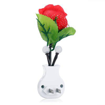 Simulated Potted Rose 1W 20Lm LED Small Night LightNight Lights<br>Simulated Potted Rose 1W 20Lm LED Small Night Light<br><br>Battery Quantity: 0<br>Color Temperature or Wavelength: 6500K<br>Connector Type: US plug<br>Electric Products: Built-in Electrical Products<br>Features: Sensor<br>Light Source Color: White<br>Light Type: LED<br>Mini Voltage: 110-220V<br>Package Contents: 1 x LED Night Light<br>Package size (L x W x H): 5.50 x 5.00 x 18.00 cm / 2.17 x 1.97 x 7.09 inches<br>Package weight: 0.0600 kg<br>Plug Type: US plug<br>Power Source: AC<br>Product size (L x W x H): 4.50 x 4.00 x 16.00 cm / 1.77 x 1.57 x 6.3 inches<br>Product weight: 0.0120 kg<br>Production Models: External procurement<br>Quantity: 1<br>Style: Comtemporary<br>Wattage: 0-5W