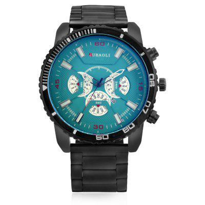 JUBAOLI G1138 Quartz Men WatchMens Watches<br>JUBAOLI G1138 Quartz Men Watch<br><br>Band material: Steel<br>Band size: 18 x 2.4cm<br>Brand: Jubaoli<br>Case material: Alloy<br>Clasp type: Folding clasp with safety<br>Dial size: 5.2 x 5.2 x 1.2cm<br>Display type: Analog<br>Movement type: Quartz watch<br>Package Contents: 1 x Watch, 1 x Box<br>Package size (L x W x H): 8.50 x 8.00 x 5.30 cm / 3.35 x 3.15 x 2.09 inches<br>Package weight: 0.2010 kg<br>Product size (L x W x H): 23.20 x 5.20 x 1.20 cm / 9.13 x 2.05 x 0.47 inches<br>Product weight: 0.1470 kg<br>Shape of the dial: Round<br>Watch style: Fashion<br>Watches categories: Men<br>Water resistance : Life water resistant