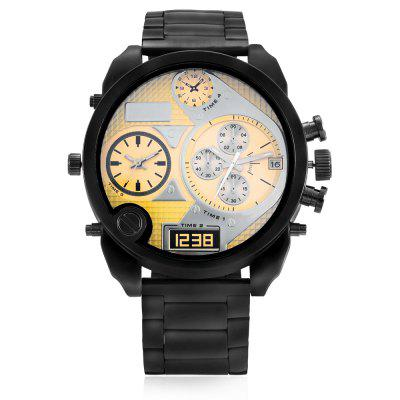 JUBAOLI G4020 Fashion Quartz Men WatchMens Watches<br>JUBAOLI G4020 Fashion Quartz Men Watch<br><br>Band material: Steel<br>Brand: Jubaoli<br>Case material: Alloy<br>Clasp type: Sheet folding clasp<br>Display type: Analog-Digital<br>Hour formats: 12 Hour<br>Movement type: Quartz + digital watch<br>Package Contents: 1 x Watch, 1 x Box<br>Package size (L x W x H): 31.00 x 13.00 x 6.50 cm / 12.2 x 5.12 x 2.56 inches<br>Package weight: 0.1900 kg<br>Product size (L x W x H): 22.50 x 5.00 x 1.20 cm / 8.86 x 1.97 x 0.47 inches<br>Product weight: 0.1350 kg<br>Shape of the dial: Circular<br>The band width: 2.1cm<br>The dial diameter: 5cm<br>The dial thickness: 1.2cm<br>Watches categories: Men<br>Water resistance : No
