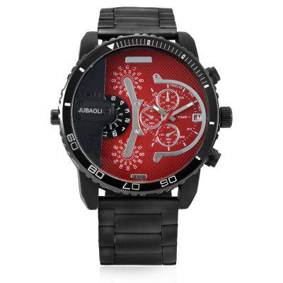JUBAOLI W1162 Fashion Man Quartz Wrist WatchMens Watches<br>JUBAOLI W1162 Fashion Man Quartz Wrist Watch<br><br>Band material: Stainless Steel<br>Band size: 18 x 2.4cm<br>Brand: Jubaoli<br>Case material: Alloy<br>Clasp type: Folding clasp with safety<br>Dial size: 5.1 x 5.1 x 1.1cm<br>Movement type: Quartz watch<br>Package Contents: 1 x Mens Watch, 1 x Packing Box<br>Package size (L x W x H): 8.50 x 8.00 x 5.30 cm / 3.35 x 3.15 x 2.09 inches<br>Package weight: 0.1900 kg<br>Product size (L x W x H): 5.10 x 1.10 x 18.00 cm / 2.01 x 0.43 x 7.09 inches<br>Product weight: 0.1500 kg<br>Shape of the dial: Round<br>Watch style: Casual<br>Watches categories: Men