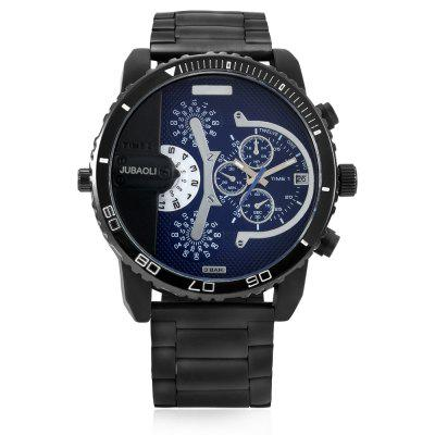 JUBAOLI W1162 Fashion ManQuartzWrist WatchMens Watches<br>JUBAOLI W1162 Fashion ManQuartzWrist Watch<br><br>Band material: Stainless Steel<br>Band size: 18 x 2.4cm<br>Brand: Jubaoli<br>Case material: Alloy<br>Clasp type: Folding clasp with safety<br>Dial size: 5.1 x 5.1 x 1.1cm<br>Movement type: Quartz watch<br>Package Contents: 1 x Mens Watch, 1 x Packing Box<br>Package size (L x W x H): 8.50 x 8.00 x 5.30 cm / 3.35 x 3.15 x 2.09 inches<br>Package weight: 0.1900 kg<br>Product size (L x W x H): 5.10 x 1.10 x 18.00 cm / 2.01 x 0.43 x 7.09 inches<br>Product weight: 0.1500 kg<br>Shape of the dial: Round<br>Watch style: Casual<br>Watches categories: Men