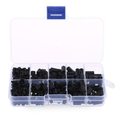 HakkaDeal 300pcs M3 Nylon Hex Screw Nut SpacerDIY Parts &amp; Components<br>HakkaDeal 300pcs M3 Nylon Hex Screw Nut Spacer<br><br>Brand: HakkaDeal<br>Material: Nylon<br>Package Contents: 300 x M3 Nylon Hex Screw Nut Spacer Stand-off, 1 x Plastic Box<br>Package Size(L x W x H): 12.90 x 6.70 x 2.00 cm / 5.08 x 2.64 x 0.79 inches<br>Package weight: 0.0950 kg<br>Product weight: 0.0760 kg<br>Type: Electric Components