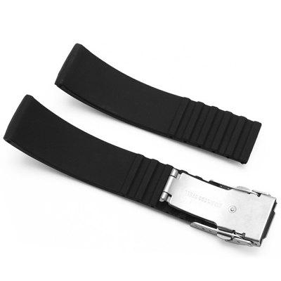 Silicone Band Strap Anti-water Design WristbandWatch Accessories<br>Silicone Band Strap Anti-water Design Wristband<br><br>Color: Black<br>Material: Silicone<br>Package Contents: 1 x Wrist Band<br>Package size (L x W x H): 21.10 x 4.40 x 2.40 cm / 8.31 x 1.73 x 0.94 inches<br>Package weight: 0.0370 kg<br>Product size (L x W x H): 19.10 x 2.40 x 0.40 cm / 7.52 x 0.94 x 0.16 inches<br>Product weight: 0.0300 kg