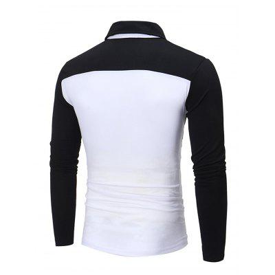 Contrast Color Male Long Sleeves ShirtMens Long Sleeves Tees<br>Contrast Color Male Long Sleeves Shirt<br><br>Material: Cotton, Polyester<br>Neckline: Turn-down Collar<br>Package Content: 1 x Shirt<br>Package size: 40.00 x 30.00 x 4.00 cm / 15.75 x 11.81 x 1.57 inches<br>Package weight: 0.4400 kg<br>Product weight: 0.4000 kg<br>Season: Autumn, Spring<br>Sleeve Length: Long Sleeves