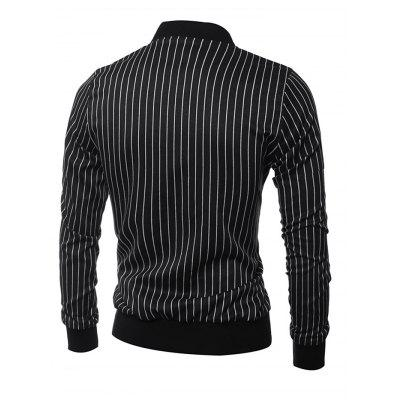Stripe Stand Collar Long Sleeves Coat for MenMens Jackets &amp; Coats<br>Stripe Stand Collar Long Sleeves Coat for Men<br><br>Closure Type: Zipper<br>Clothes Type: Others<br>Embellishment: Others<br>Materials: Cotton, Polyamide<br>Package Content: 1 x Coat, 1 x Coat<br>Package Dimension: 40.00 x 30.00 x 4.00 cm / 15.75 x 11.81 x 1.57 inches, 40.00 x 30.00 x 4.00 cm / 15.75 x 11.81 x 1.57 inches<br>Package weight: 0.6400 kg, 0.6400 kg<br>Pattern Type: Others<br>Product weight: 0.6000 kg<br>Seasons: Autumn,Spring<br>Shirt Length: Regular<br>Sleeve Length: Long Sleeves<br>Style: Casual<br>Thickness: Medium thickness