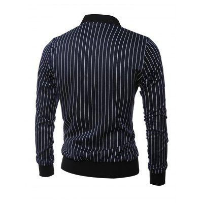 Stripe Stand Collar Long Sleeves Coat for MenMens Jackets &amp; Coats<br>Stripe Stand Collar Long Sleeves Coat for Men<br><br>Closure Type: Zipper<br>Clothes Type: Others<br>Embellishment: Others<br>Materials: Cotton, Polyamide<br>Package Content: 1 x Coat<br>Package Dimension: 40.00 x 30.00 x 4.00 cm / 15.75 x 11.81 x 1.57 inches<br>Package weight: 0.6400 kg<br>Pattern Type: Others<br>Product weight: 0.6000 kg<br>Seasons: Autumn,Spring<br>Shirt Length: Regular<br>Sleeve Length: Long Sleeves<br>Style: Casual<br>Thickness: Medium thickness