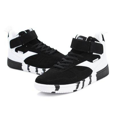 Male Stylish Casual High Top Skateboarding ShoesMen's Sneakers<br>Male Stylish Casual High Top Skateboarding Shoes<br><br>Closure Type: Lace-Up<br>Contents: 1 x Pair of Shoes<br>Decoration: Split Joint<br>Function: Slip Resistant<br>Lining Material: Cotton Fabric<br>Materials: Rubber, PU, Cotton<br>Occasion: Tea Party, Sports, Shopping, Party, Casual, Daily, Holiday, Outdoor Clothing<br>Outsole Material: Rubber<br>Package Size ( L x W x H ): 31.00 x 21.00 x 11.00 cm / 12.2 x 8.27 x 4.33 inches<br>Package Weights: 0.90kg<br>Pattern Type: Solid<br>Seasons: Autumn,Spring<br>Style: Modern, Leisure, Fashion, Comfortable, Casual<br>Toe Shape: Round Toe<br>Type: Skateboarding Shoes<br>Upper Material: PU