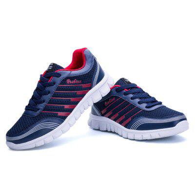 Male Breathable Split Joint Lace Up Sports ShoesMen's Sneakers<br>Male Breathable Split Joint Lace Up Sports Shoes<br><br>Closure Type: Lace-Up<br>Contents: 1 x Pair of Shoes<br>Decoration: Split Joint,Stripe<br>Function: Slip Resistant<br>Lining Material: Mesh<br>Materials: Microfiber, Rubber, Mesh<br>Occasion: Tea Party, Sports, Shopping, Party, Basketball, Casual, Running, Daily, Holiday, Outdoor Clothing<br>Outsole Material: Rubber<br>Package Size ( L x W x H ): 32.00 x 22.00 x 11.00 cm / 12.6 x 8.66 x 4.33 inches<br>Package Weights: 0.98kg<br>Pattern Type: Stripe<br>Seasons: Autumn,Spring<br>Style: Modern, Leisure, Fashion, Comfortable, Casual<br>Toe Shape: Round Toe<br>Type: Sports Shoes<br>Upper Material: Mesh,Microfiber