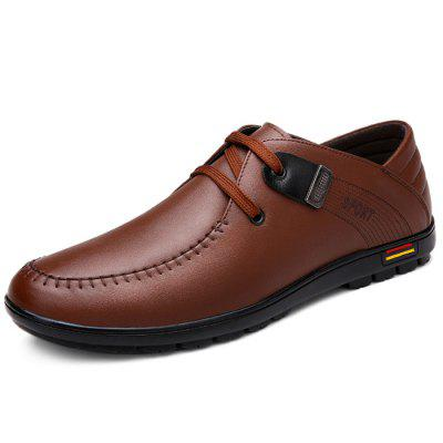 Male Business Casual Soft Lace Up Leather ShoesFormal Shoes<br>Male Business Casual Soft Lace Up Leather Shoes<br><br>Closure Type: Lace-Up<br>Contents: 1 x Pair of Shoes<br>Function: Slip Resistant<br>Lining Material: Flannel<br>Materials: Microfiber Leather, Rubber, Flannel<br>Occasion: Office, Formal, Daily, Casual, Holiday<br>Outsole Material: Rubber<br>Package Size ( L x W x H ): 32.00 x 22.00 x 11.00 cm / 12.6 x 8.66 x 4.33 inches<br>Package Weights: 1.01kg<br>Pattern Type: Solid<br>Seasons: Autumn,Spring<br>Style: Modern, Leisure, Fashion, Comfortable, Casual, Business<br>Toe Shape: Round Toe<br>Type: Casual Leather Shoes<br>Upper Material: Microfiber Leather