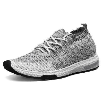 Male Breathable Color Blocking Knitted Sports ShoesMen's Sneakers<br>Male Breathable Color Blocking Knitted Sports Shoes<br><br>Closure Type: Lace-Up<br>Contents: 1 x Pair of Shoes<br>Decoration: Weave<br>Materials: Woven Fabric, PU<br>Occasion: Sports, Running, Outdoor Clothing, Holiday, Daily, Casual, Shopping<br>Outsole Material: PU<br>Package Size ( L x W x H ): 30.00 x 19.00 x 10.00 cm / 11.81 x 7.48 x 3.94 inches<br>Package Weights: 0.90kg<br>Seasons: Autumn,Spring<br>Style: Modern, Leisure, Fashion, Comfortable, Casual<br>Toe Shape: Round Toe<br>Type: Sports Shoes<br>Upper Material: Woven Fabric