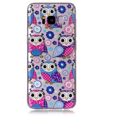 Buy MULTICOLOR Cartoon Owl Style TPU Soft Phone Case for Samsung Galaxy S8 for $3.58 in GearBest store