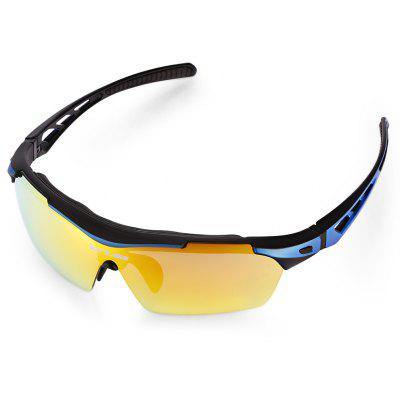 Buy BLUE AND BLACK GUB 5200 Cycling Glasses Set for $13.88 in GearBest store