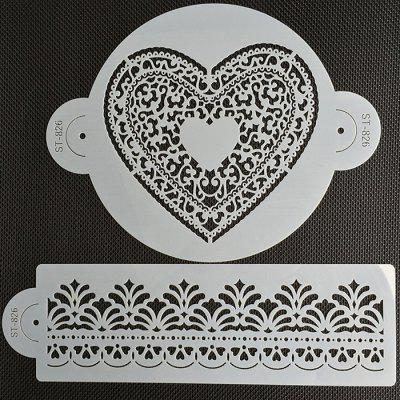 AK ST - 826 Love Lace Pattern Cake Side Decorating MoldCake Molds<br>AK ST - 826 Love Lace Pattern Cake Side Decorating Mold<br><br> Product weight: 0.0200 kg<br>Material: PP<br>Package Contents: 2 x Mold<br>Package size (L x W x H): 20.00 x 20.00 x 3.00 cm / 7.87 x 7.87 x 1.18 inches<br>Package weight: 0.0700 kg<br>Type: Bakeware