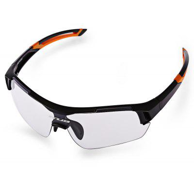 Buy BLACK AND ORANGE GUB 5600 Cycling Glasses for $19.80 in GearBest store