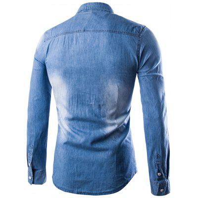 Male Long Sleeves Lapel Pure Cotton Denim ShirtMens Shirts<br>Male Long Sleeves Lapel Pure Cotton Denim Shirt<br><br>Material: Cotton<br>Package Contents: 1 x Denim Shirt<br>Package size: 32.00 x 40.00 x 2.00 cm / 12.6 x 15.75 x 0.79 inches<br>Package weight: 0.3700 kg<br>Product weight: 0.3500 kg