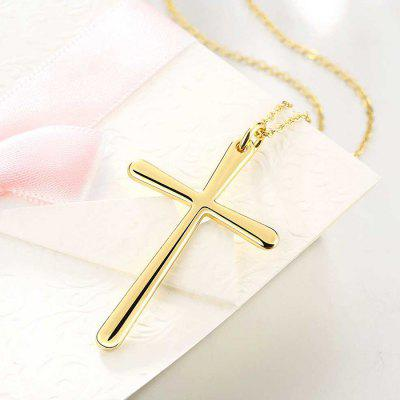 Women Stylish Gold Plated Cross NecklaceNecklaces &amp; Pendants<br>Women Stylish Gold Plated Cross Necklace<br><br>Fabric: Copper<br>Occasions: Others, Party<br>Package Contents: 1 x Necklace<br>Package size (L x W x H): 8.00 x 5.00 x 5.00 cm / 3.15 x 1.97 x 1.97 inches<br>Package weight: 0.0780 kg<br>Product weight: 0.0580 kg<br>Style: Fashion<br>Type: Necklaces