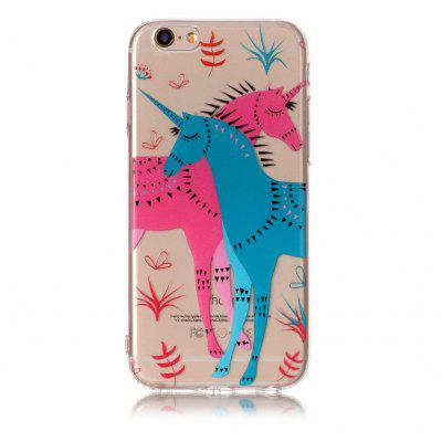 Buy MULTICOLOR Cartoon Unicorn Style TPU Soft Phone Case for iPhone 6 / 6S for $3.97 in GearBest store