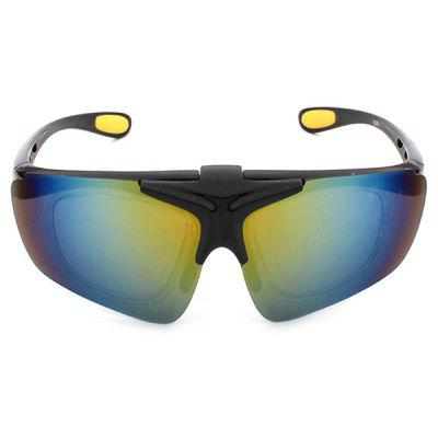 Buy BLACK WITH YELLOW CTSmart 821 Outdoor Sports Clamshell Cycling Glasses for $6.64 in GearBest store