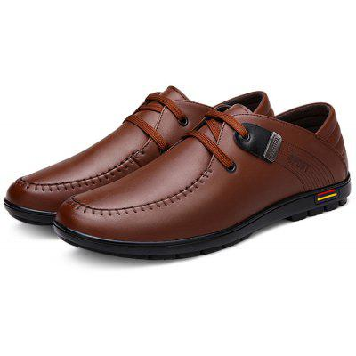 Buy Male Business Soft Lace Up Leather Formal Shoes, BROWN, 42, Bags & Shoes, Men's Shoes, Formal Shoes for $26.24 in GearBest store