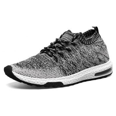 Male Breathable Color Blocking Knitted Sports SneakersMen's Sneakers<br>Male Breathable Color Blocking Knitted Sports Sneakers<br><br>Closure Type: Lace-Up<br>Contents: 1 x Pair of Shoes<br>Decoration: Weave<br>Materials: Woven Fabric, PU<br>Occasion: Daily<br>Outsole Material: PU<br>Package Size ( L x W x H ): 30.00 x 19.00 x 10.00 cm / 11.81 x 7.48 x 3.94 inches<br>Package weight: 0.9200 kg<br>Product weight: 0.8000 kg<br>Seasons: Autumn,Spring<br>Style: Modern, Leisure, Fashion, Comfortable, Casual<br>Toe Shape: Round Toe<br>Type: Sports Shoes<br>Upper Material: Woven Fabric