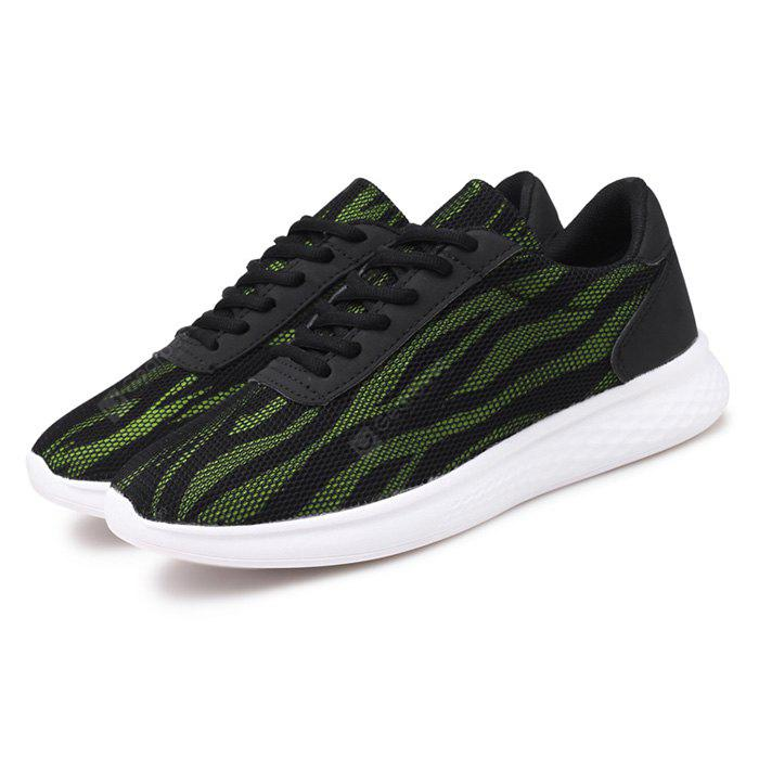 Male Breathable Light Lace Up Athletic Shoes