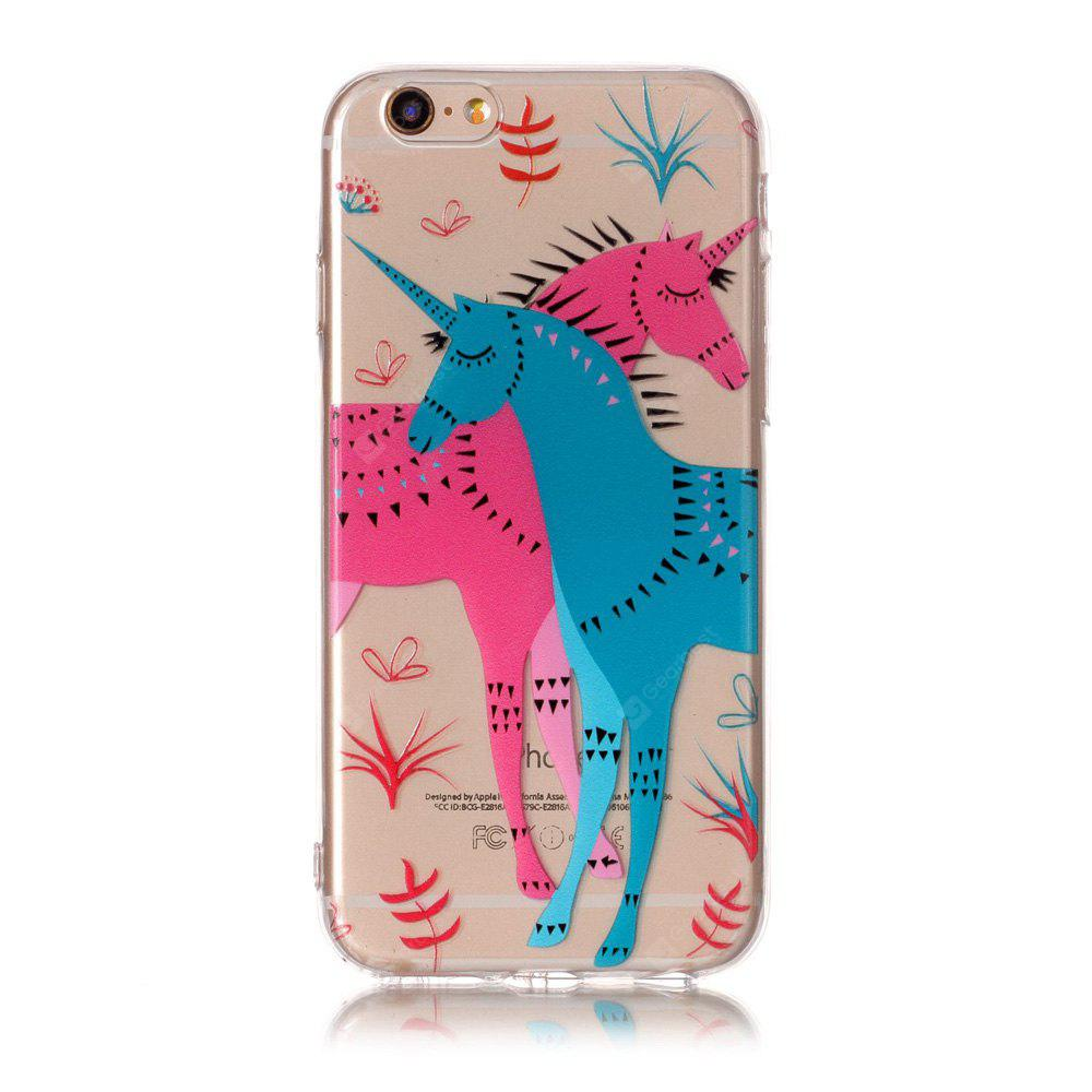 Cartoon Unicorn Style TPU Soft Phone Case for iPhone 6 / 6S