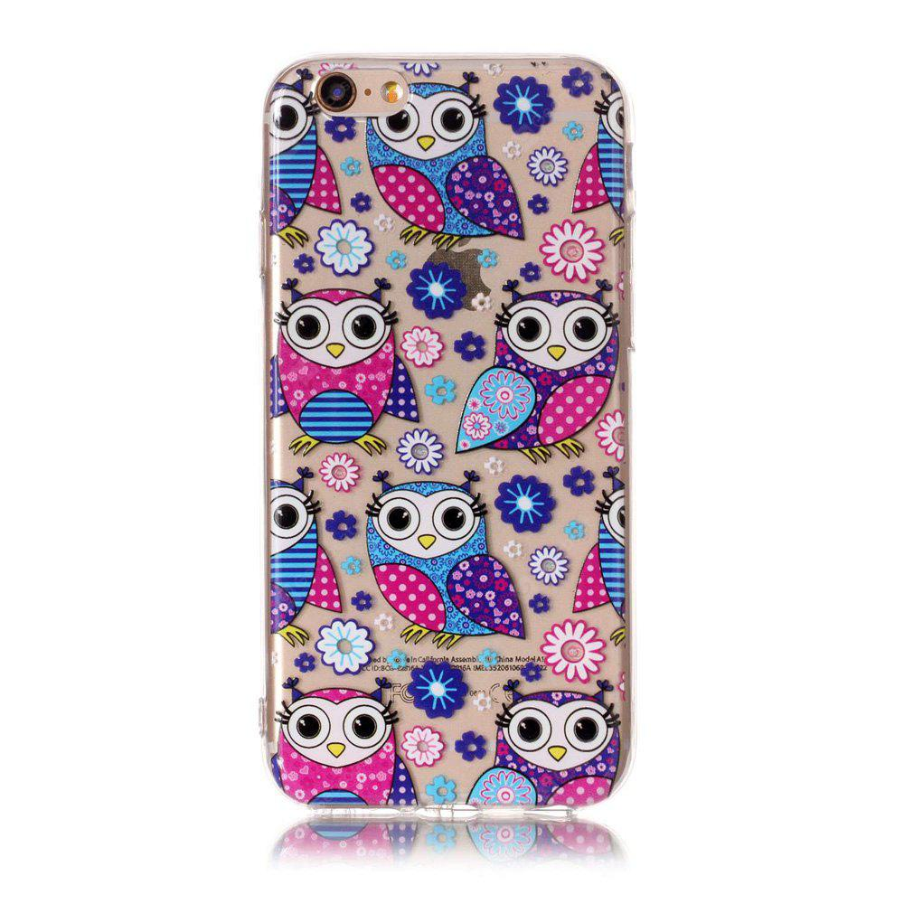 MULTICOLOR Cartoon Owl Style TPU Soft Phone Case for iPhone 6 / 6S