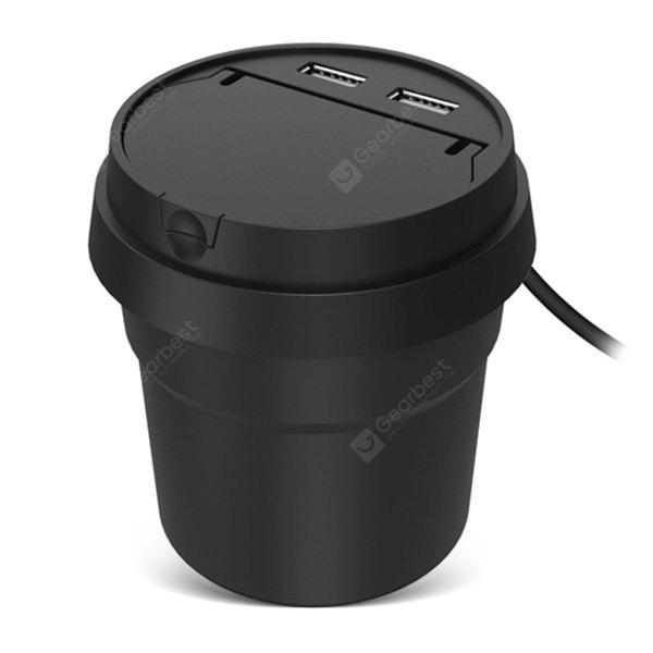 Cup-shape Car Charger with Lit Cigarette Function