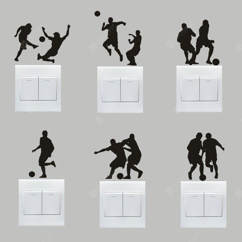 Buy Creative Football Match Wall Sticker Switch BLACK