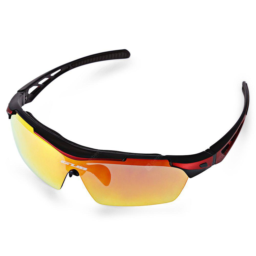 RED WITH BLACK GUB 5200 Cycling Glasses Set