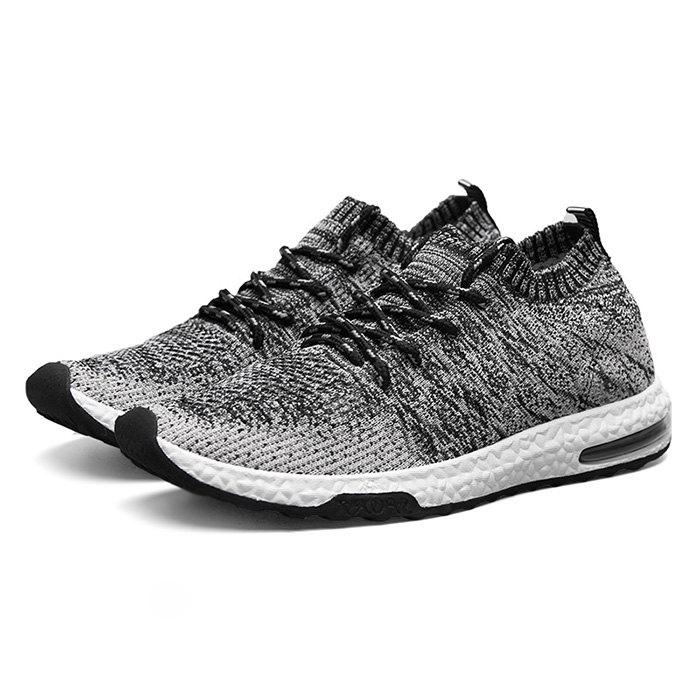 Male Breathable Color Blocking Knitted Sports Sneakers