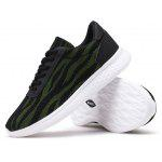 Male Breathable Light Lace Up Athletic Shoes - BLACK