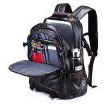Men Chic Business Water-resistant Computer Backpack - BLACK