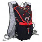 Stylish Outdoor Water-resistant Hydration Backpack - BLACK