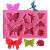 AK SM - 465 Butterfly Shape Cupcake Biscuit Silicone Mold - PINK
