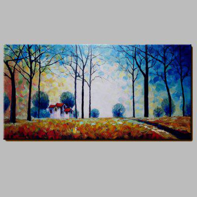 Buy COLORMIX Mintura Hand Painted Forest Hut Oil Painting for $59.99 in GearBest store