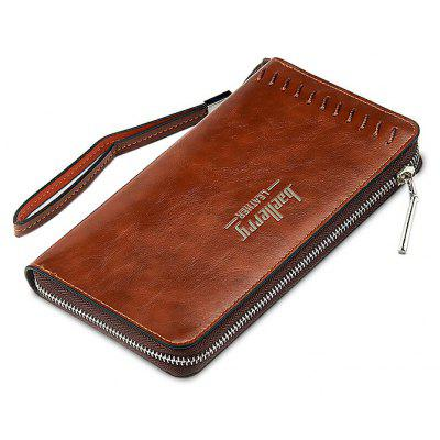 Buy COFFEE Men Leisure Zipper Around PU Long Wallet for $13.48 in GearBest store