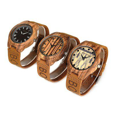 BOBO BIRD 030 Genuine Leather Band Men Quartz WatchMens Watches<br>BOBO BIRD 030 Genuine Leather Band Men Quartz Watch<br><br>Band material: Genuine Leather<br>Band size: 21 x 2cm<br>Brand: BOBO BIRD<br>Case material: Wood<br>Clasp type: Pin buckle<br>Dial size: 4.5 x 4.5 x 1.1cm<br>Display type: Analog<br>Movement type: Quartz watch<br>Package Contents: 1 x Watch, 1 x Box<br>Package size (L x W x H): 8.50 x 8.50 x 5.50 cm / 3.35 x 3.35 x 2.17 inches<br>Package weight: 0.0980 kg<br>Product size (L x W x H): 21.00 x 4.50 x 1.10 cm / 8.27 x 1.77 x 0.43 inches<br>Product weight: 0.0280 kg<br>Shape of the dial: Round<br>Watch mirror: Acrylic<br>Watch style: Fashion<br>Watches categories: Men