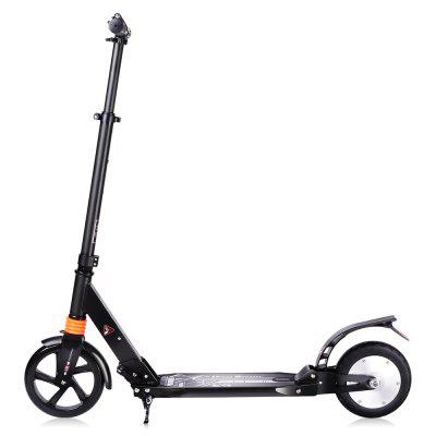 Aluminum Alloy 2600mAh 8 inch Tire Folding Electric ScooterKick Scooter<br>Aluminum Alloy 2600mAh 8 inch Tire Folding Electric Scooter<br><br>Battery: Li-ion battery<br>Battery Capacity: 2600mAh<br>Battery Rate: 48W<br>Charger type: EU plug<br>Charging Time: 2.5 Hours<br>Color: Black<br>Folding Type: Folding<br>Material: Aluminum Alloy<br>Max Payload: 100kg<br>Maximum Mileage: 10km<br>Maximum Speed: 15km/h<br>Mileage (depends on road and driver weight): 8-15km<br>Motor Rated Power: 150W<br>Package Content: 1 x Electric Scooter, 1 x Charger, 1 x English User Manual<br>Package size: 92.50 x 15.50 x 33.00 cm / 36.42 x 6.1 x 12.99 inches<br>Package weight: 9.9000 kg<br>Pedal Ground Clearance (no weight bearing): About 8cm<br>Product size: 105.00 x 38.00 x 93.00 cm / 41.34 x 14.96 x 36.61 inches<br>Product weight: 7.9000 kg<br>Seat Type: without Seat<br>Tire Diameter: 8 inches<br>Type: Electric Kick Scooter<br>Wheel Number: 2 Wheel<br>Working Temperature: 0 - 45 Deg.C
