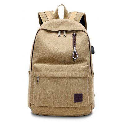 Buy KHAKI Men Leisure Large Capacity Computer Backpack with USB Port for $28.12 in GearBest store