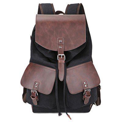 Men Stylish Splicing Canvas BackpackBackpacks<br>Men Stylish Splicing Canvas Backpack<br><br>Features: Wearable<br>Gender: Men<br>Package Size(L x W x H): 44.00 x 22.00 x 5.00 cm / 17.32 x 8.66 x 1.97 inches<br>Package weight: 0.9800 kg<br>Packing List: 1 x Backpack<br>Product weight: 0.9600 kg<br>Style: Casual, Fashion<br>Type: Backpacks