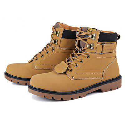 Male Casual Breathable High Top Lace Martin Boots