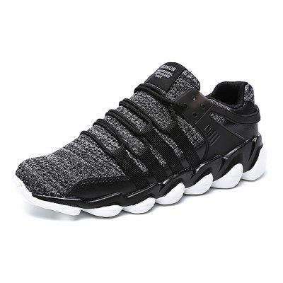 Male Casual Breathable Knitted Running SneakersAthletic Shoes<br>Male Casual Breathable Knitted Running Sneakers<br><br>Closure Type: Lace-Up<br>Contents: 1 x Pair of Shoes<br>Decoration: Weave<br>Materials: Woven Fabric, PU<br>Occasion: Sports, Shopping, Running, Party, Outdoor Clothing, Holiday, Daily, Casual, Riding<br>Outsole Material: PU<br>Package Size ( L x W x H ): 32.00 x 18.00 x 12.00 cm / 12.6 x 7.09 x 4.72 inches<br>Package Weights: 0.91kg<br>Pattern Type: Solid<br>Seasons: Autumn,Spring<br>Style: Modern, Leisure, Fashion, Comfortable, Casual<br>Toe Shape: Round Toe<br>Type: Sports Shoes<br>Upper Material: Woven Fabric