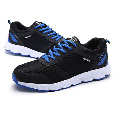 Masculino respirável Light Running Sports Athletic Shoes